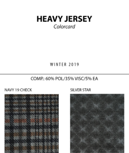 Heavy Jersey - Colorcard