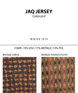 Jaq Jersey - Colorcard