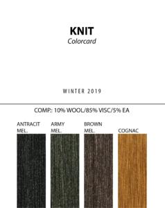Knit - Colorcard