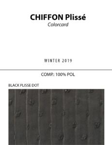 Chiffon Plissé - Colorcard